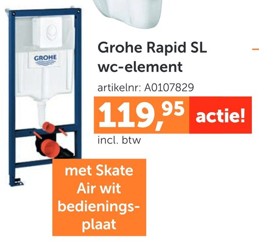 Grohe Rapid SL wc-element