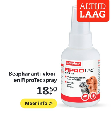 Beaphar anti-vlooi- en FiproTec spray