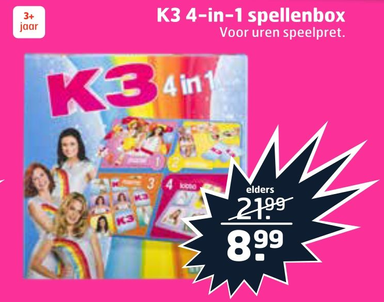 K3 4-in-1 spellenbox